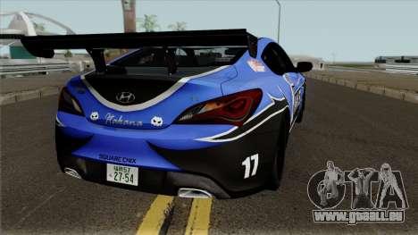 Hyundai Genesis Coupe HKS für GTA San Andreas rechten Ansicht