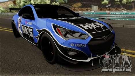 Hyundai Genesis Coupe HKS für GTA San Andreas Innenansicht