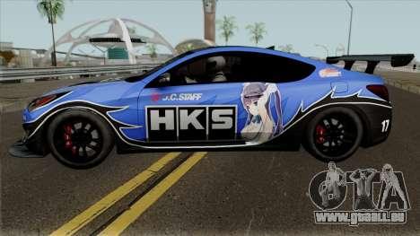 Hyundai Genesis Coupe HKS für GTA San Andreas linke Ansicht