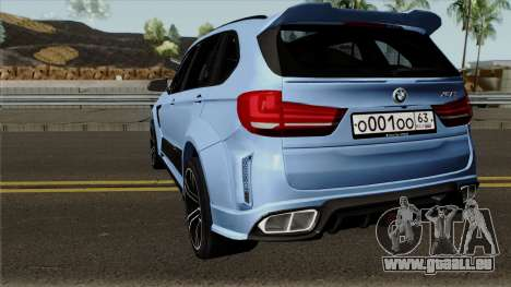 BMW X5M Regendage für GTA San Andreas zurück linke Ansicht