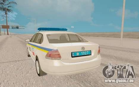 Volkswagen Polo (Ukraine) pour GTA San Andreas sur la vue arrière gauche