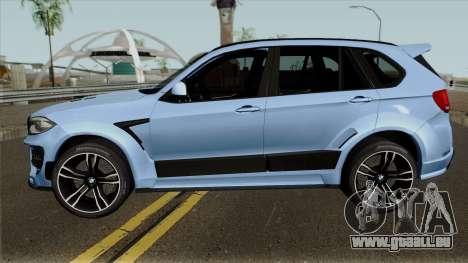 BMW X5M Regendage für GTA San Andreas linke Ansicht