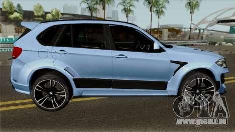 BMW X5M Regendage für GTA San Andreas Rückansicht