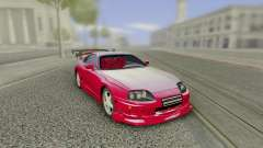 Toyota Supra Tuning Red with Spoiler für GTA San Andreas
