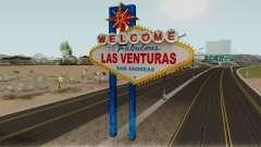 Welcome Las Venturas Sign Remastered Final pour GTA San Andreas