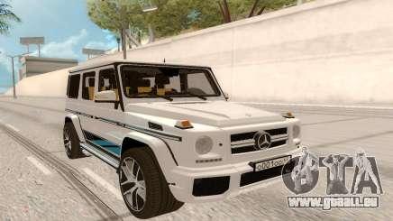 Mercedes-Benz G63 AMG Rus Plate pour GTA San Andreas
