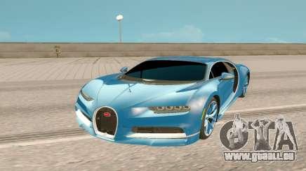Bugatti Chiron Rus Plate für GTA San Andreas
