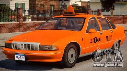 1991 Chevrolet Caprice Taxi v2 pour GTA 4
