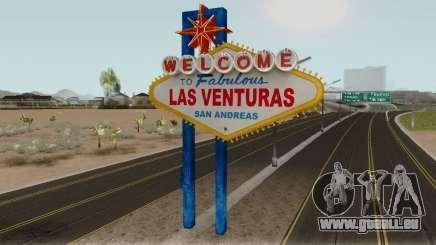 Welcome Las Venturas Sign Remastered Final für GTA San Andreas