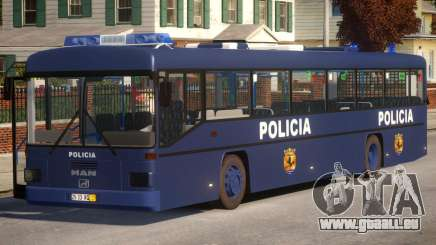 N1 Europe Police Bus Mod MAN 202 pour GTA 4