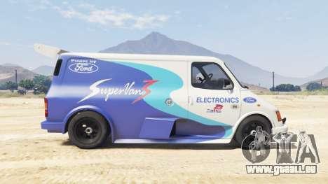 GTA 5 Ford Transit Supervan 3 2004 [replace] arrière droit vue de côté