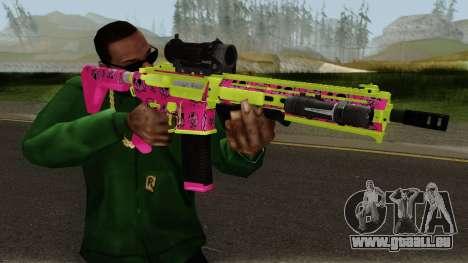 GTA Online Gunrunning Carbine Rifle MK.II Pink pour GTA San Andreas troisième écran