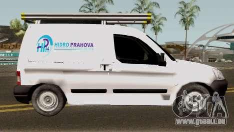Citroen Berlingo HidroPrahova Edition pour GTA San Andreas vue arrière