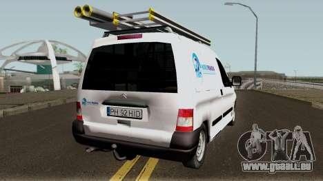 Citroen Berlingo HidroPrahova Edition pour GTA San Andreas vue de droite