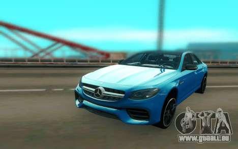Mercedes-Benz E63S AMG 2018 pour GTA San Andreas vue arrière
