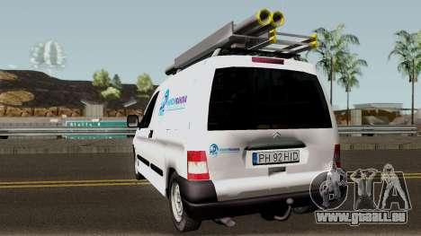 Citroen Berlingo HidroPrahova Edition pour GTA San Andreas sur la vue arrière gauche