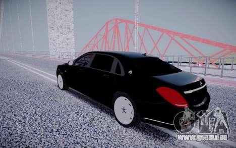 Mercedes-Benz S600 Maybach für GTA San Andreas zurück linke Ansicht