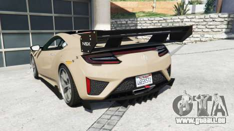GTA 5 Acura NSX 2017 [replace] hinten links Seitenansicht