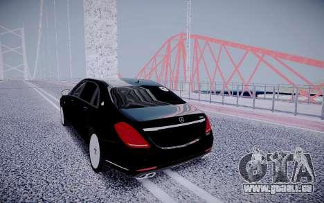 Mercedes-Benz S600 Maybach für GTA San Andreas Rückansicht