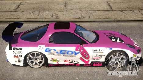 RX-7 Exedy Drift Car pour GTA 4 Vue arrière