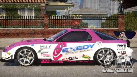 RX-7 Exedy Drift Car pour GTA 4 est une gauche