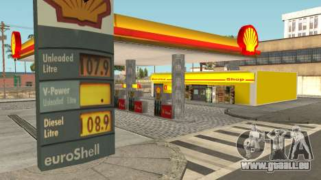 Shell Gas Station Updated pour GTA San Andreas