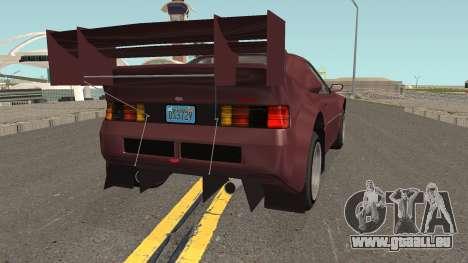 Vapid GB200 GTA V IVF pour GTA San Andreas vue de droite