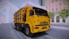 KAMAZ 6460 Camion avec des tuyaux pour GTA San Andreas