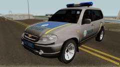 Chevrolet Niva GLC 2009 Ukraine Police Gray pour GTA San Andreas