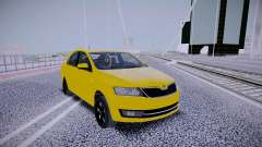 Skoda Rapid Yellow pour GTA San Andreas