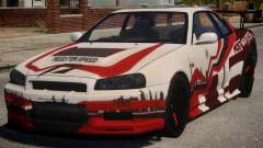 Nissan Skyline GT-R R34 PJ3 für GTA 4
