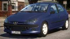 Peugeot 206 V1 pour GTA 4