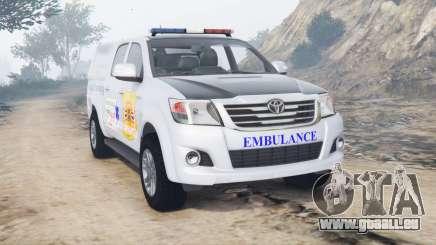 Toyota Hilux Double Cab 2012 Thai Ambulance pour GTA 5