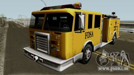 Firetruck Paintable in the Two of the Colours für GTA San Andreas