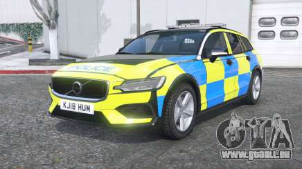 Volvo V60 T6 2018 Police [ELS] [replace] pour GTA 5