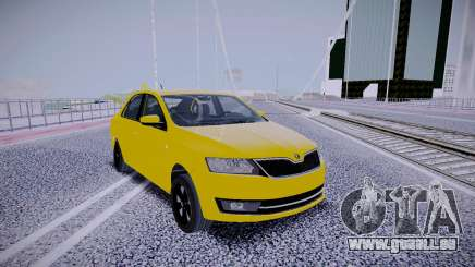 Skoda Rapid Yellow pour GTA San Andreas