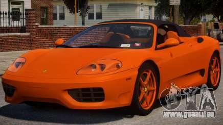 2000 Ferrari 360 Spider V1.2 pour GTA 4
