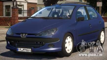 Peugeot 206 V1 für GTA 4