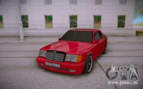 Mercedes-Benz E500 W124 Brabus für GTA San Andreas Rückansicht
