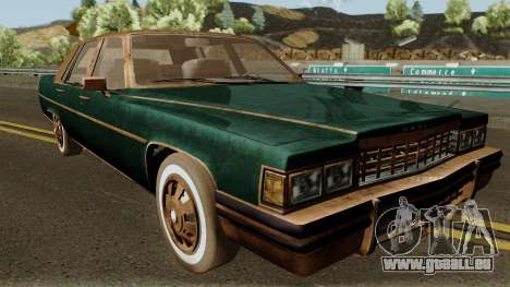 Cadillac Fleetwood Beaten 1985 v1 pour GTA San Andreas vue intérieure