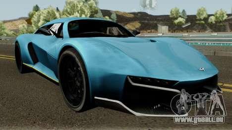 Rezvani Beast Alpha pour GTA San Andreas vue intérieure
