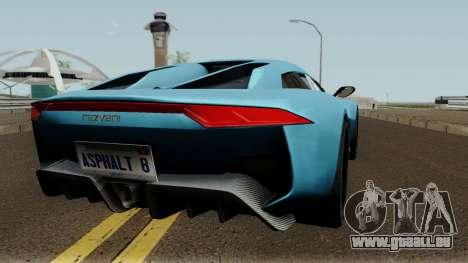 Rezvani Beast Alpha pour GTA San Andreas vue de droite