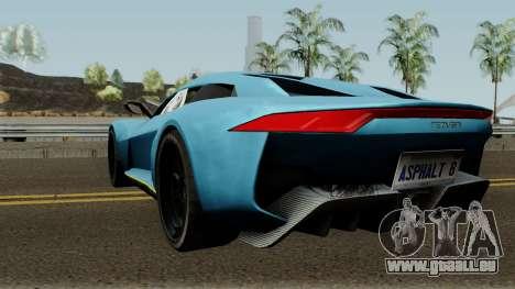 Rezvani Beast Alpha pour GTA San Andreas sur la vue arrière gauche