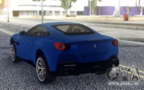 Ferrari Portofino 2018 für GTA San Andreas zurück linke Ansicht