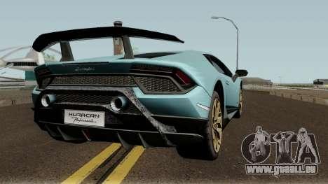 Lamborghini Huracan Perfomante 2017 für GTA San Andreas rechten Ansicht