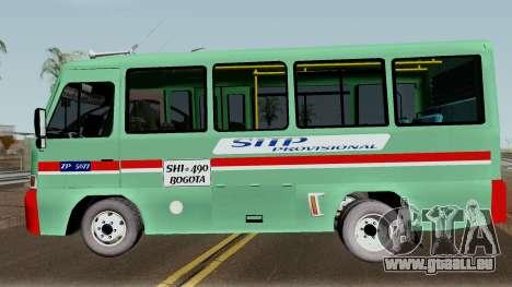 Buseta Mazda T für GTA San Andreas linke Ansicht