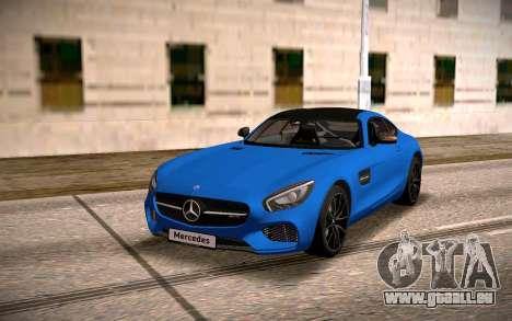 Mercedes-Benz GTS pour GTA San Andreas vue arrière