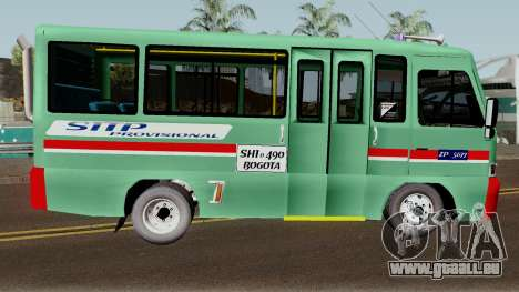 Buseta Mazda T für GTA San Andreas Rückansicht