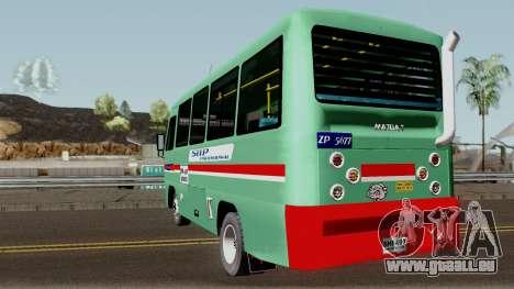 Buseta Mazda T für GTA San Andreas zurück linke Ansicht