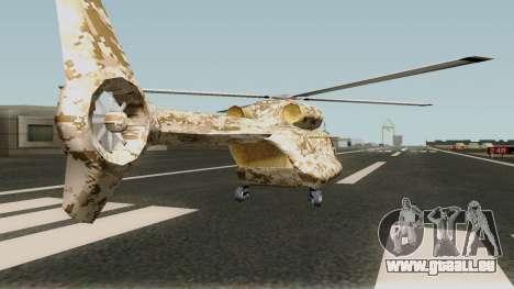 Retexture Cargobob für GTA San Andreas
